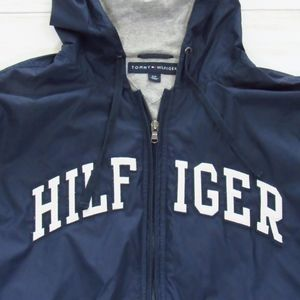 Hilfiger Navy and White Zip-Front Jacket S/P